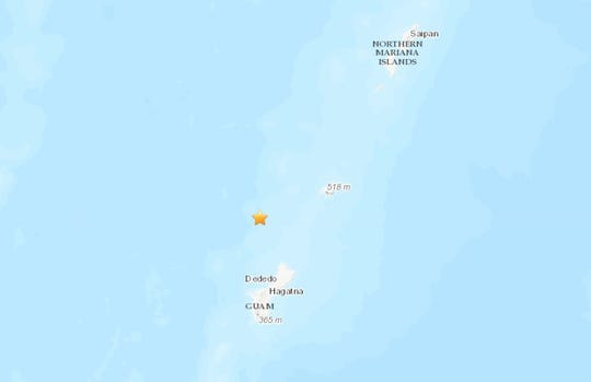 A 4.4 magnitude earthquake occurred 51 kilometers north, north-west of Dededo on Sept. 3, 2019.