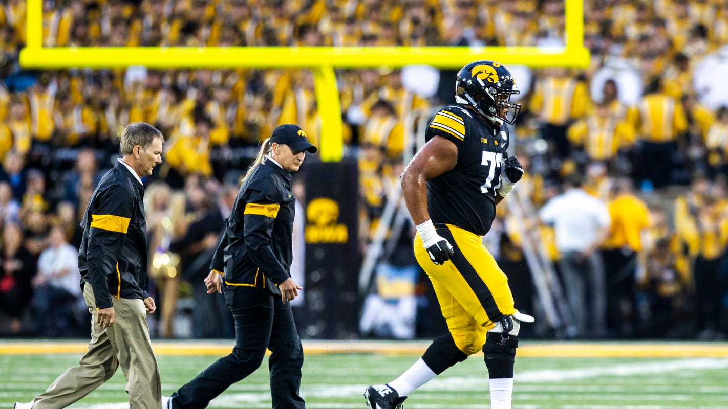 Iowa football: How close Alaric Jackson is to returning to starting lineup