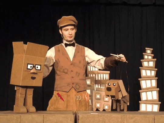 Lilypad Puppet Theatre's monthly family series will host 'Cardboard Explosion!' at the Cherry Artspace.