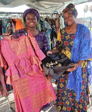 Soxhramaimounatou Mabacke and Khadijia Mbachke were vendors at the 2019 African Street Festival.