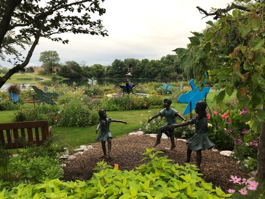 More than 4,000 varieties of plants provide a dazzling array of colors at the Rotary Botanical Gardens in Janesville, Wis.