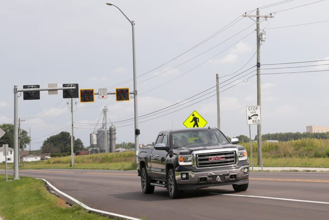 Cars drive along Concord road south of the Veterans Memorial Parkway intersection, Tuesday, Sept. 3, 2019 in Lafayette.