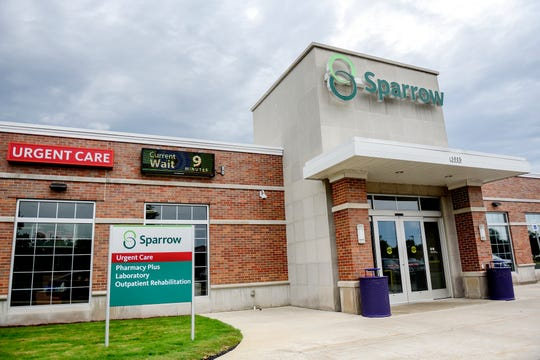 The Sparrow Urgent Care facility pictured on Tuesday, Sept. 3, 2019, in Grand Ledge.
