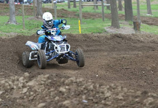 Blair Miller competes in one of his 2019 ATVMX National Championship Series.