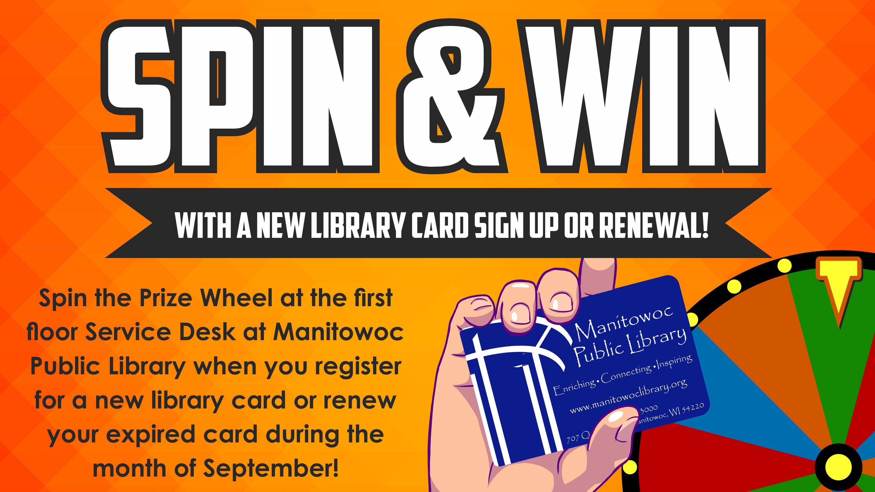 Manitowoc library has prizes for National Library Card Sign