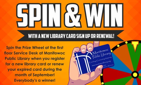 September is National Library Card Sign-Up Month at Manitowoc Public Library.
