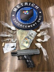 METRICH collected suspected heroin, methamphetamine, marijuana, subutex and a loaded Hipoint 9mm handgun during a traffic stop on Aug. 30 that involved Timothy J. Morris.