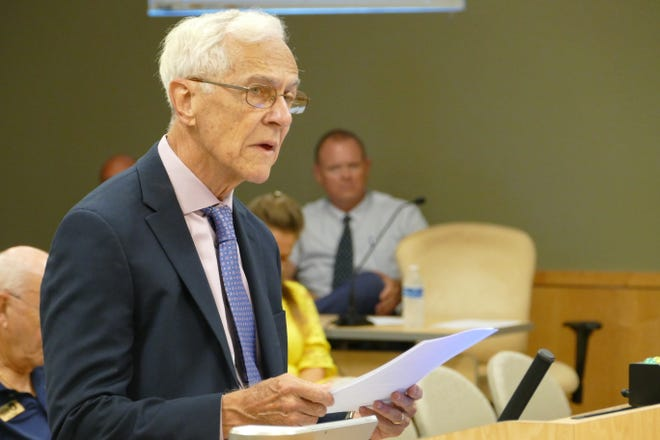 Former city manager David Harden speaks before the Marco Island City Council on Sept. 3. 2019.