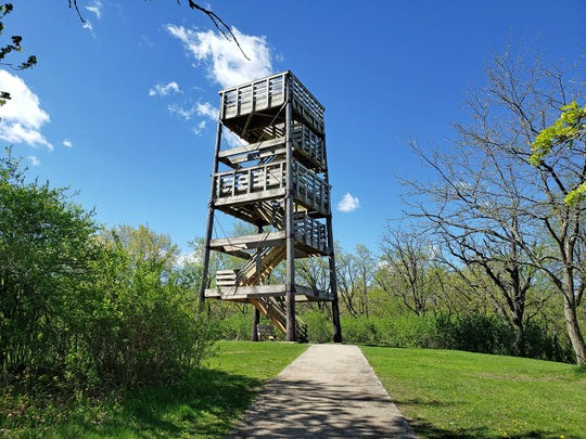 The 45-foot observation tower at Lapham Peak sits on the highest point in Waukesha County.