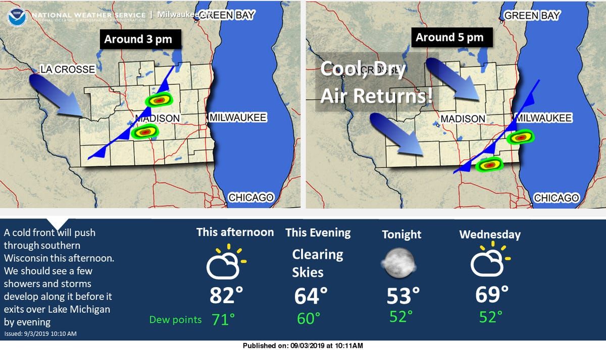 Wisconsin weather: Storms could redevelop as front approaches
