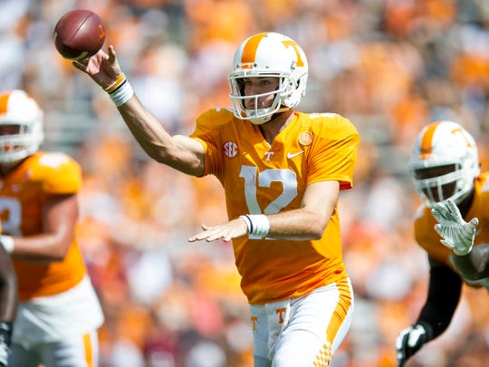 Quarterback Quinten Dormady spent three seasons with Tennessee and one with Houston before becoming a graduate transfer at Central Michigan.