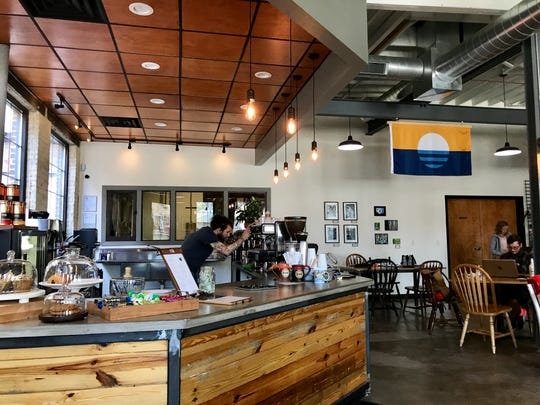 Velobahn Coffee and Cycle at 3618 W. Pierce St. serves Anodyne Coffee.