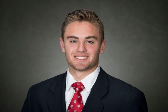 Wisconsin kicker Collin Larsh.