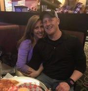 Chris Schmidt with his wife, Kari.