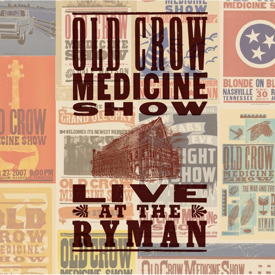 "Old Crow Medicine Show's new album ""Live at the Ryman"" will be released Oct. 4."