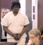 Emanuel Kidega Samson was in court on Tuesday, Sept. 3, 2019 with his attorney Jennifer Thompson to hear Judge Cheryl Blackburn ruling on sentences for 42 additional criminal counts related to the Burnette Chapel Church of Christ shooting.
