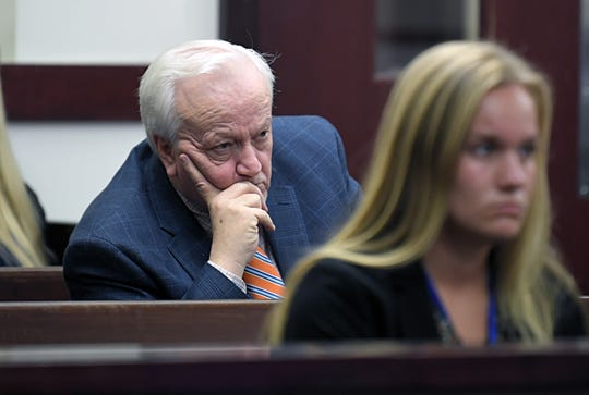 Burnette Chapel Church of Christ pastor Joey Spann listens to Judge Cheryl Blackburn on Tuesday, Sept. 3, 2019 as she rules on sentences for 42 additional criminal counts related to the Burnette Chapel Church of Christ shooting.