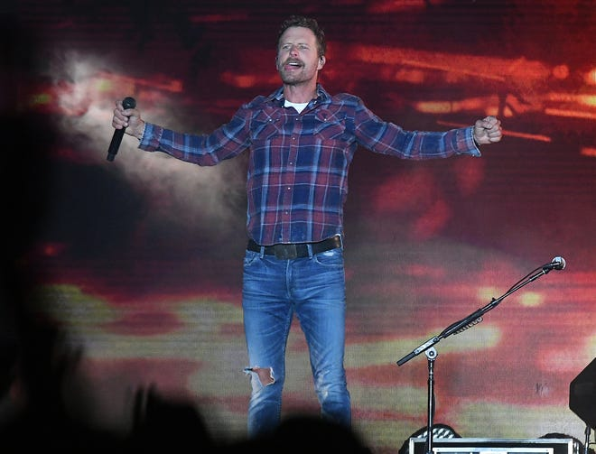 Dierks Bentley performs as the last act on the main stage on Sunday, Sept. 1, 2019, at the Seven Peaks Festival in Buena Vista, Colorado.