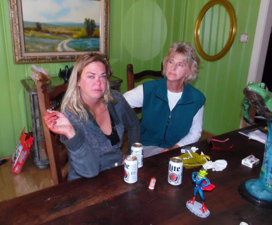 Mandy Denson, at left, claimed Chad Bailey shot himself while they argued.