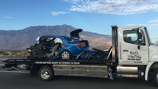 This photo shows one of six vehicles involved in a collision that killed two people on Palm Drive in Desert Hot Springs on Sept. 2, 2019. The victims were among at least 50 drivers, passengers and bicyclists killed in the Coachella Valley in 2019, according to Desert Sun records.