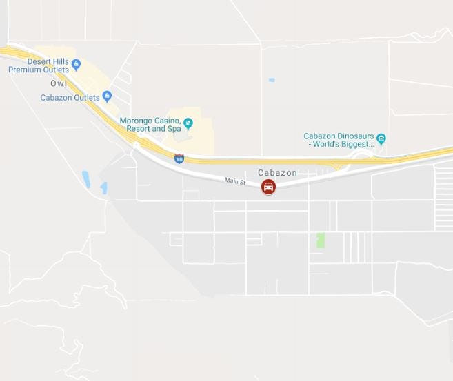 One person was killed and another injured Tuesday in a crash in Cabazon. The crash happaned on eastbound Interstate 10 at Main Street, according to the California Highway Patrol.