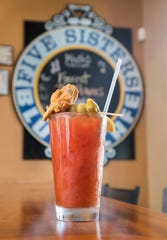 A signature Bloody Mary cocktail at Five Sisters Blues Cafe in Pensacola.