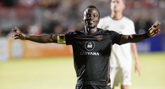 """Solomon Asante """"El Mágico"""", goleador de la USL con 20 dianas."""