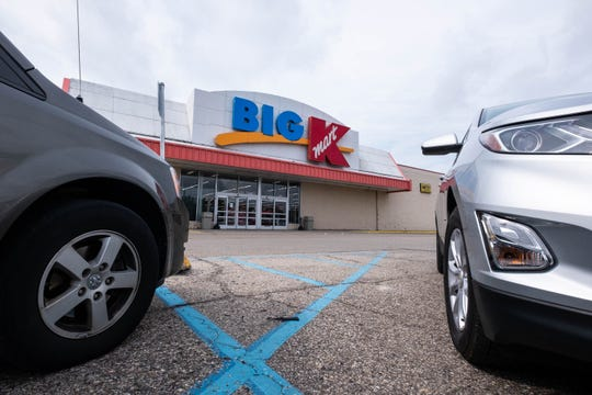 Several cars are parked in the lot in front of the Marine City Kmart Tuesday, Sept. 3, 2019. It was announced last week that the store would be closing after nearly 40 years.