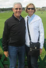 Bob and Lynn Newcomer are shown here during a recent trip to the Old Course at St. Andrews Links in Scotland.