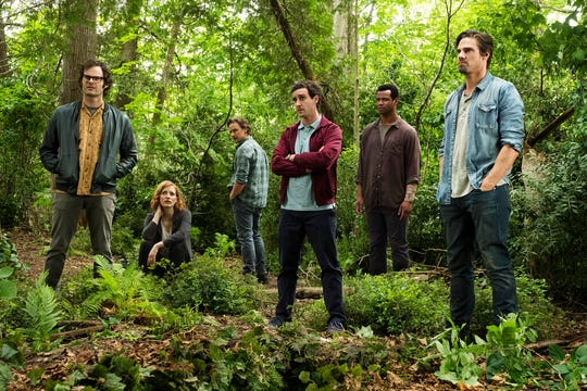 """From left, Bill Hader, Jessica Chastain, James McAvoy, James Ransone, Isaiah Mustafa and Jay Ryan star in """"It: Chapter 2."""" The movie opens Thursday at Regal West Manchester and R/C Hanover Movies."""