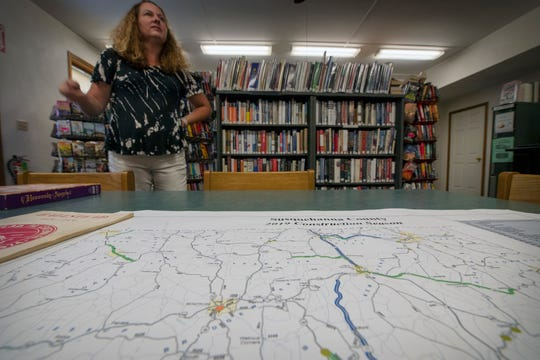 Angie Hall, the librarian of the Halstead-Great Bend Branch Library, said that her town is a great place to raise kids, adding that the town has prospered from the fracking boom in the region. The county went big for Donald Trump in 2016, and Hall doesn't see that changing.
