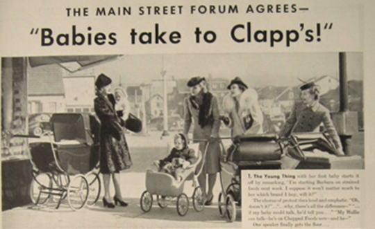 An ad for Clapp's baby food.