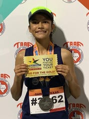 Cornerstone freshman Leslie Salas was a national-meet track qualifier this past summer and is now the Lady Lions' top cross country runner. She was first at the Toe Nail Trail Classic Aug. 28, 2019, in Christoval.