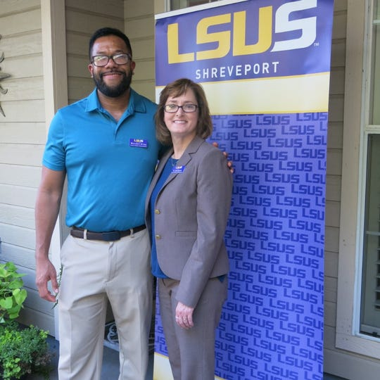 Wendell Riley and Dr. Tami Knotts at LSUS Meet and Greet.