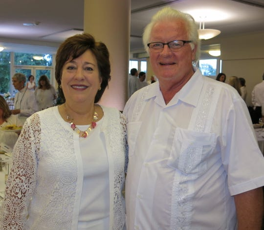 Champion of Hope Martha Marak and hubby Bob Marak at White Out Cancer Gala.