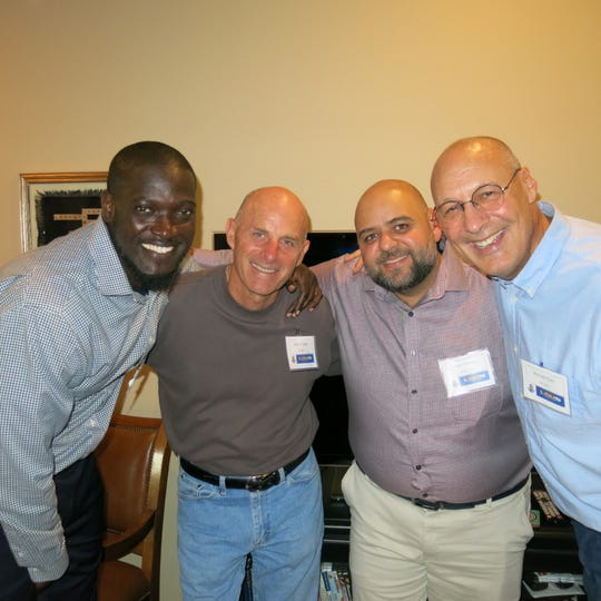 New LSUS staffers at Chancellor Larry Clark's Meet and Greet: Anthony Hannah, Nelson Coulter, Sam Gherfal, Michael Hylen.