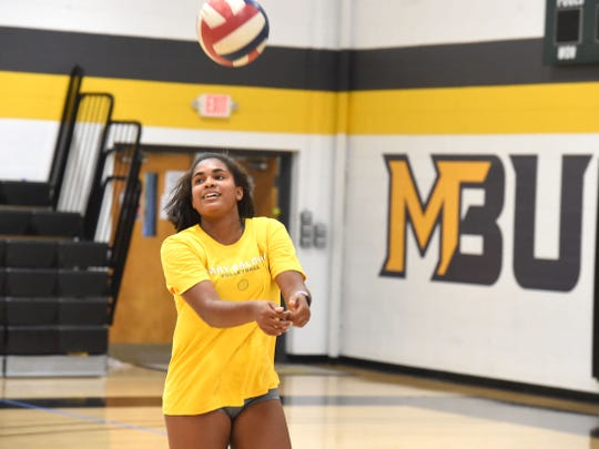Mary Baldwin University's Rachel Christian was named USA South Athletic Conference rookie of the week.