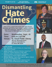 A flyer for a panel on Sept. 18.