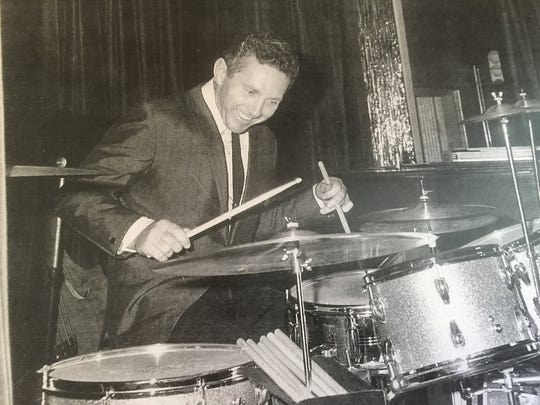 Picture of a young Bobby Morris, drummer for Sinatra, Elvis, Streisand and more.