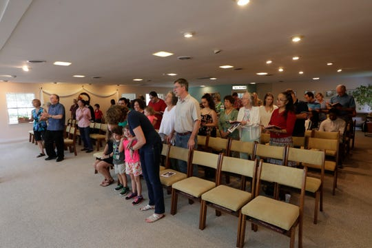 The Unity of Tallahassee church congregation sings together during the 11 a.m. service Sunday, Sept. 1, 2019.