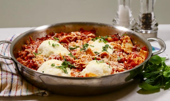 Skillet lasagna takes the perfect shortcut for an easy weeknight meal.