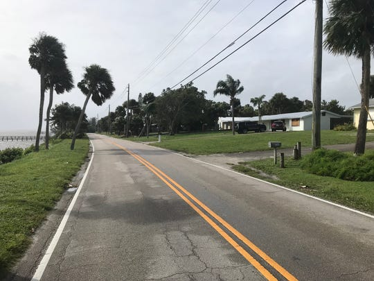 View of South Indian River Drive Sept. 3, 2019, during Hurricane Dorian