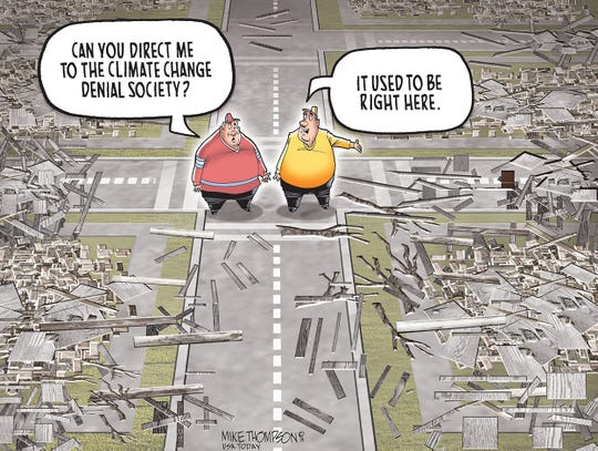 Cartoon: Climate change denial society