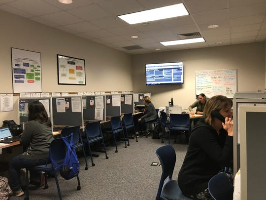 County staff answer calls to Indian River County's hurricane hotline on Tuesday, Sept. 3, 2019.