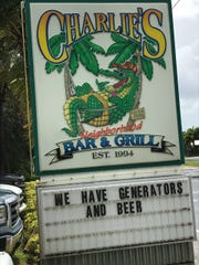The sign in front of Charlie's Neighborhood Bar & Grill in Stuart.