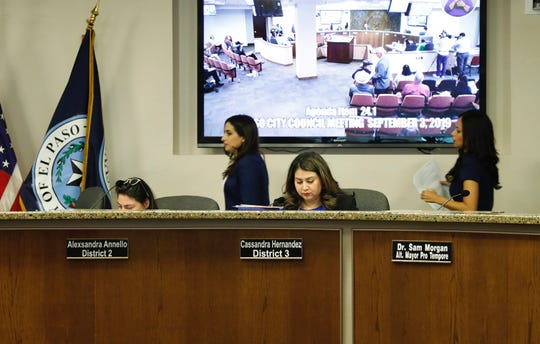 The El Paso City Council voted to discuss calling a special election for the District 3 City Council seat during Tuesday's meeting. City reps. Alexsandra Annello and Cassandra Hernandez voted no.
