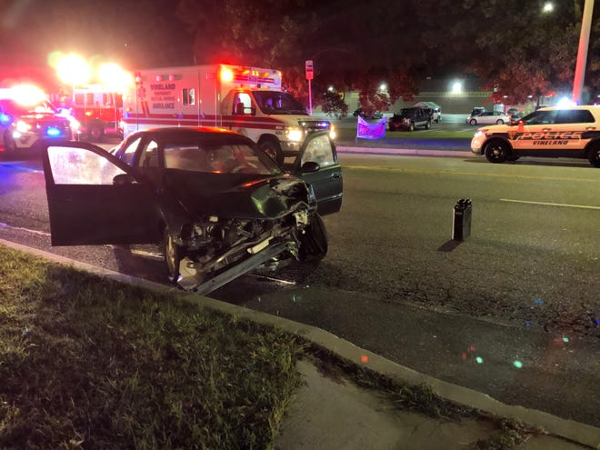 Two drivers were reported injured in a two-car crash along Landis Avenue, near Lincoln Avenue, on Aug. 28, 2019.