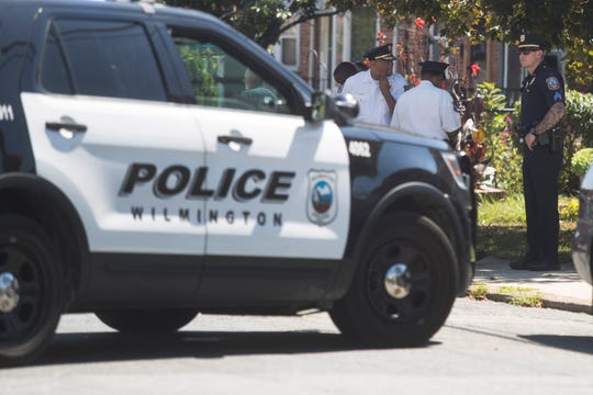Wilmington Police work the scene where a 19-year-old man found dead after being shot nearby on the afternoon of Sept. 3, 2019 in the 400 block of East 35th Street.