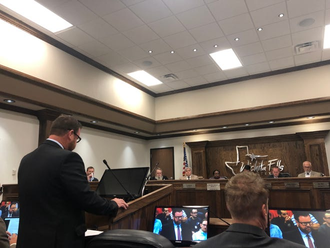 In this file photo, John Spraggins speaks Sept. 3, during a public hearing on the Wichita Falls proposed tax rate. He asked council to consider an increase for police officers to get them closer to the state average for pay.