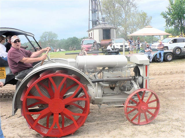 These old tractors are 100 years old and still running